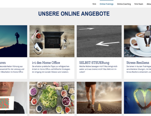 Neue firm-Homepage